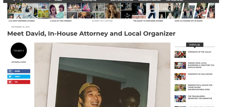 VoyageLA's Article Intro on David Kim, and His Run for Congress